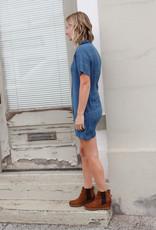 Amuse Society Lorraine Short Sleeve Woven Dress