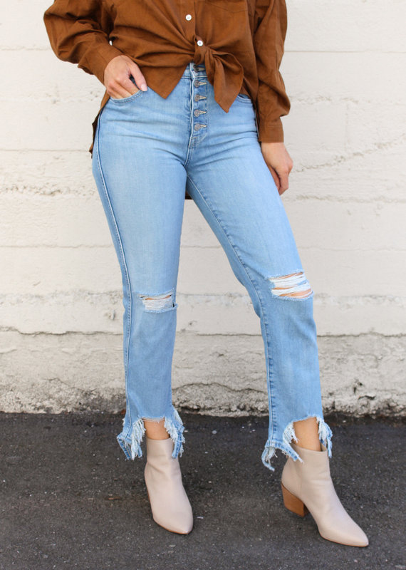 7 For All Mankind 7 For All Mankind: High-Waist Crop Straight Leg