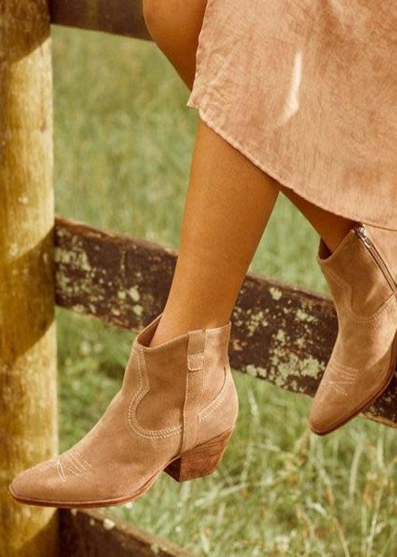 Dolce Vita Dolce Vita: Silma Booties in Truffle Suede