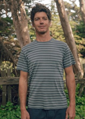 Mollusk Surf Shop M's Stripe Pocket T