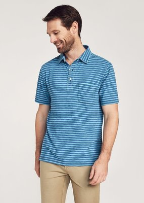 Faherty Indigo Polo
