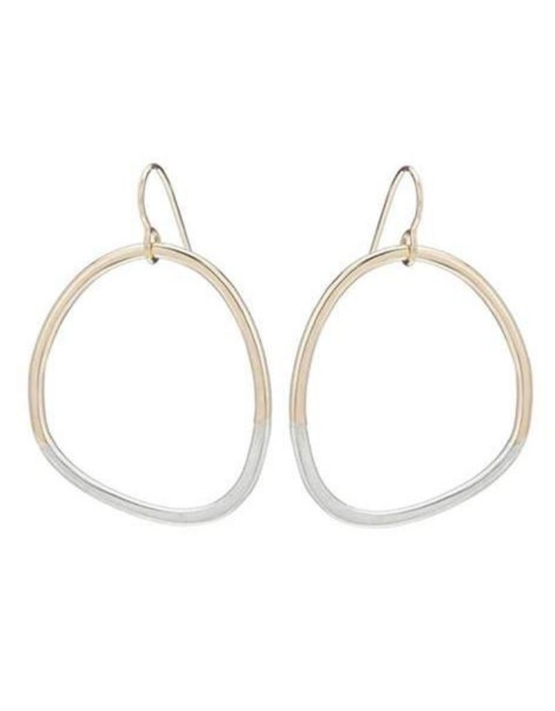 Colleen Mauer Gold & Silver Stone Earrings