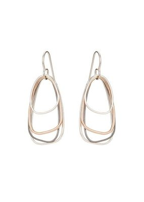 Colleen Mauer Tri-Toned Multi-Triangle Earrings