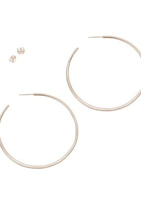 Colleen Mauer Large Classic Circle Hoop Earrings