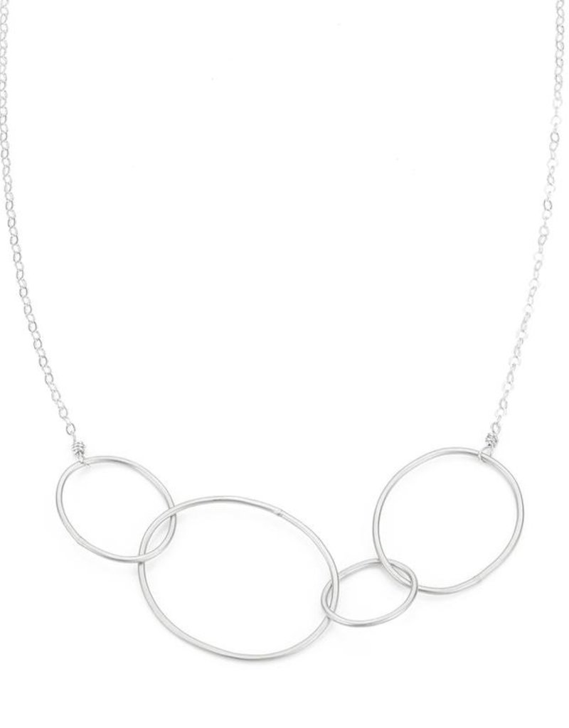 Colleen Mauer Organic 4-Loop Silver Necklace