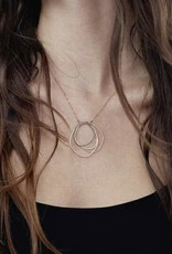 Colleen Mauer Large Topography Gold Chain Necklace