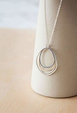 Colleen Mauer Large Topography Silver Chain Necklace