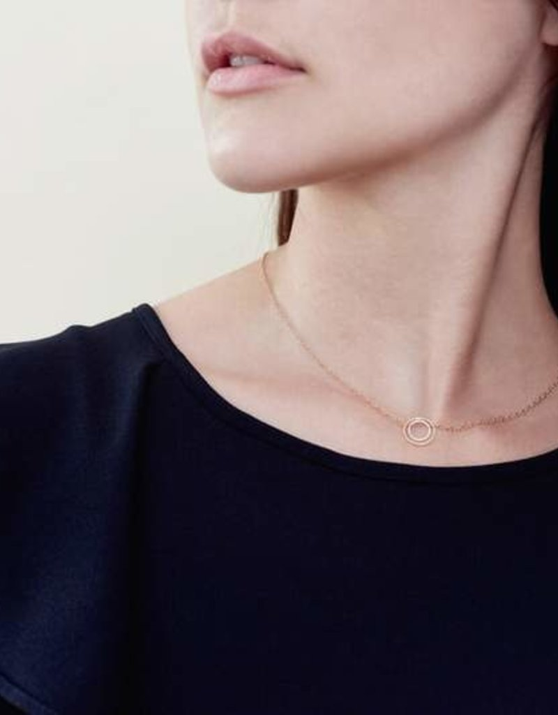 Colleen Mauer Silver & Gold Nesting Necklace On Gold Chain
