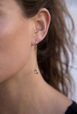 Colleen Mauer Gold & Silver Cinq Two-Toned Earrings