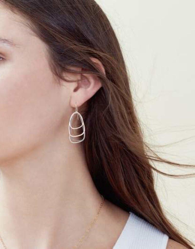 Colleen Mauer Tri-Toned Multi-Triangle Earrings