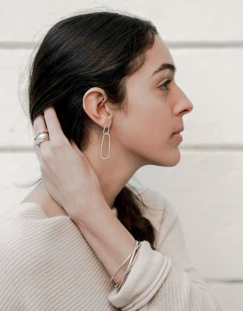 Colleen Mauer Interlocking Rectangle Post Earrings