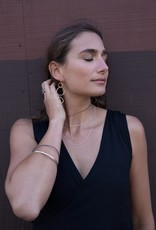 Colleen Mauer Four-Color Linear Hoop Earrings