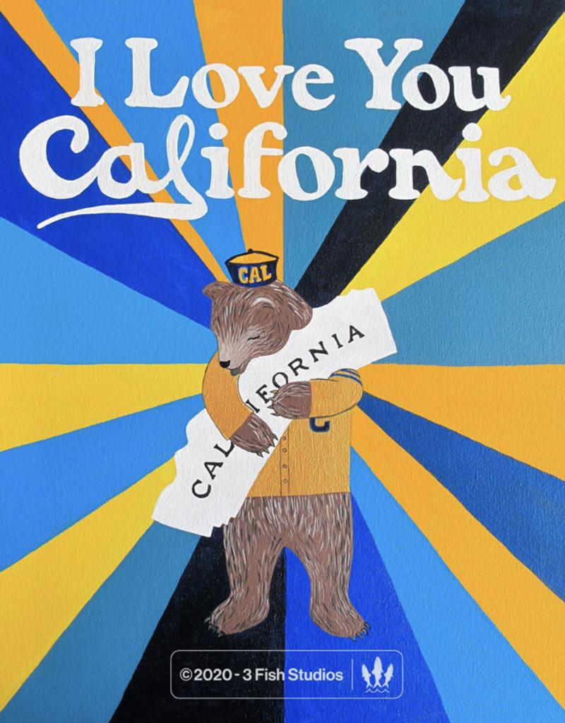 3 Fish Studios Love You Cal Bear