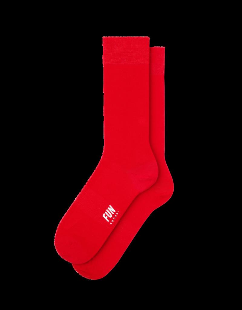 Fun Socks Red Solid