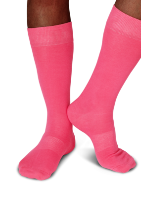 Fun Socks Pink Solid
