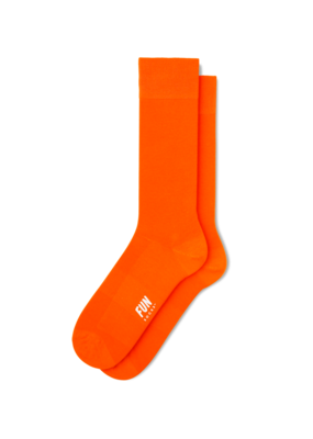 Fun Socks Orange Solid
