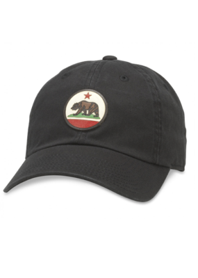 American Needle Cali Bear Slouch Black