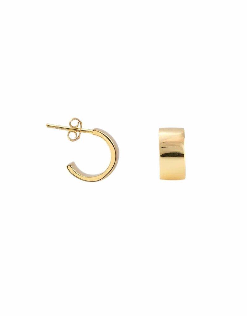 Kris Nations Wide Huggie Hoop Earrings Gold