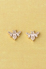 Kris Nations Bumble Bee Stud Earrings Gold