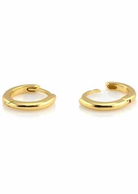 Kris Nations Classic Hinged Huggie Hoop Earrings Gold