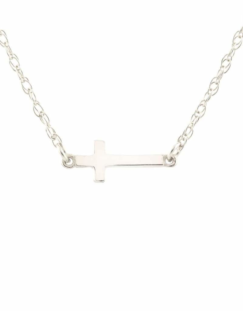 Kris Nations Cross Charm Necklace Silver