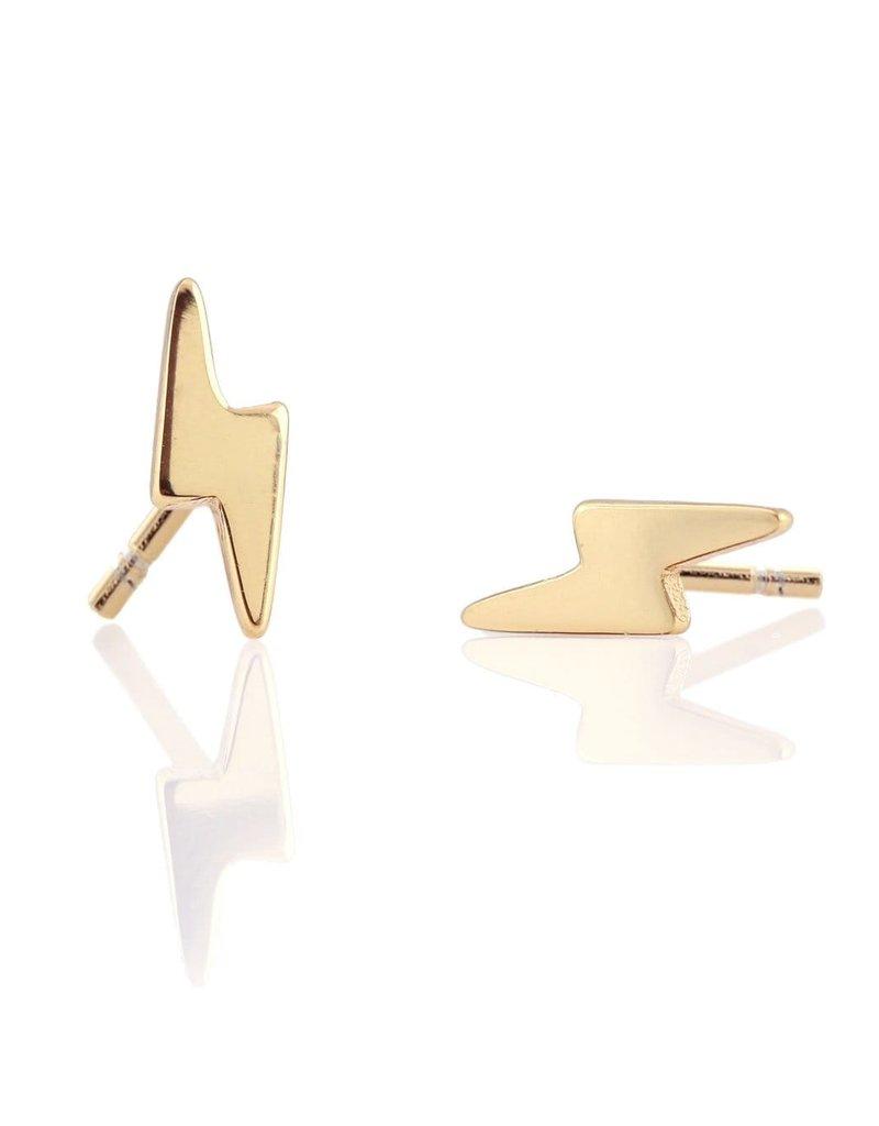 Kris Nations Lighting Bolt Earrings Gold