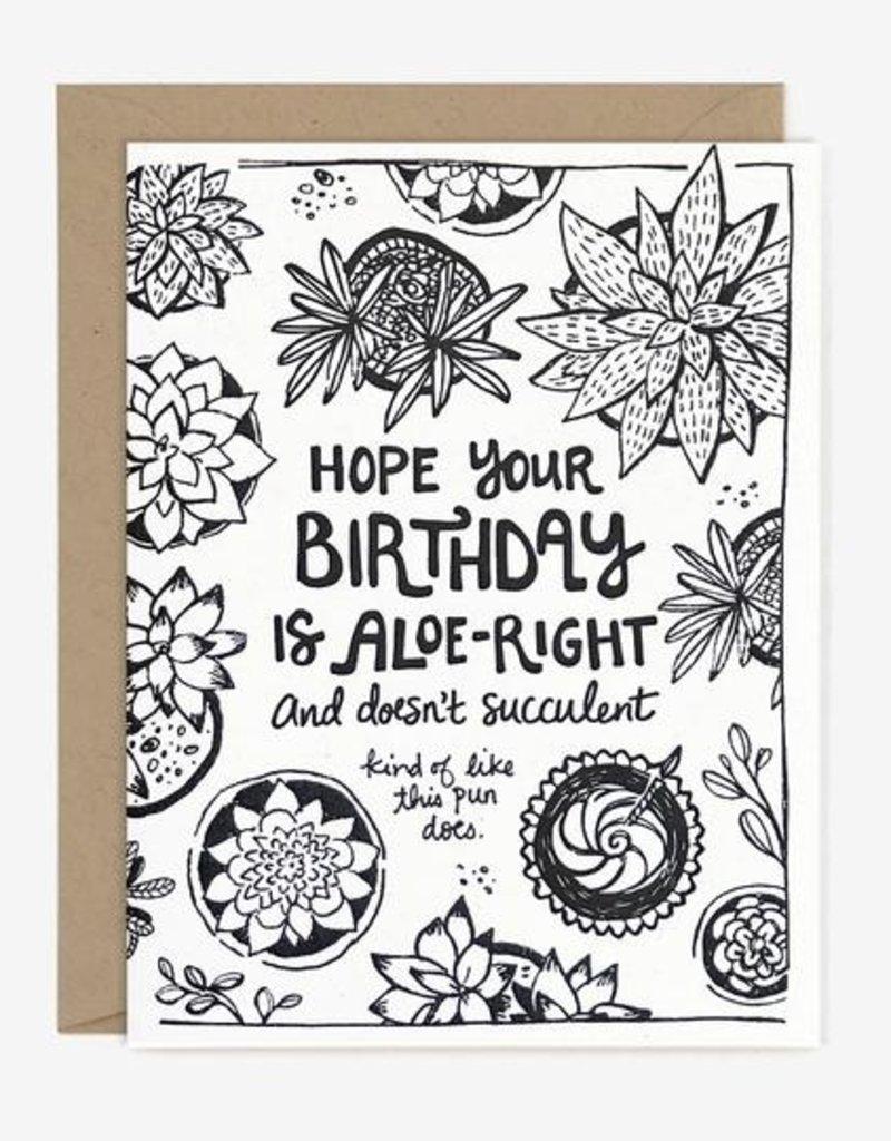 Paper Pony Succulent Birthday