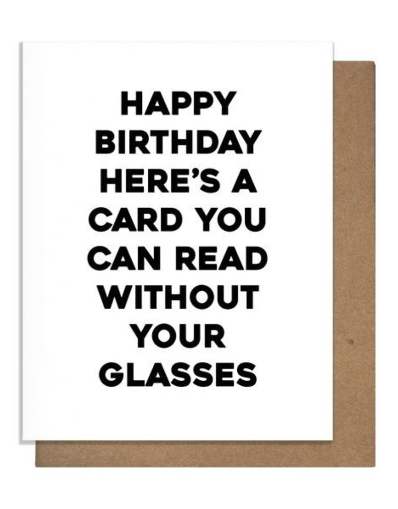 Pretty Alright Goods Glasses Greeting Card