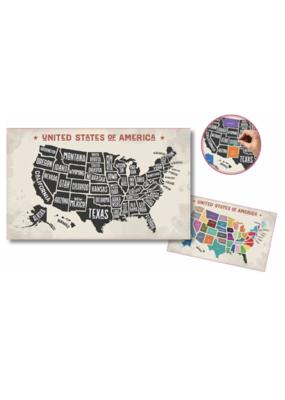 Scratch- Off USA Map