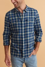 Marine Layer Navy Indigo Plaid