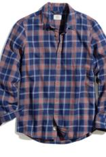 Marine Layer Classic Fit LS Indigo Twill Plaid Shirt