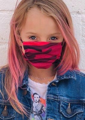 AMP Kids Mask Pink Camo