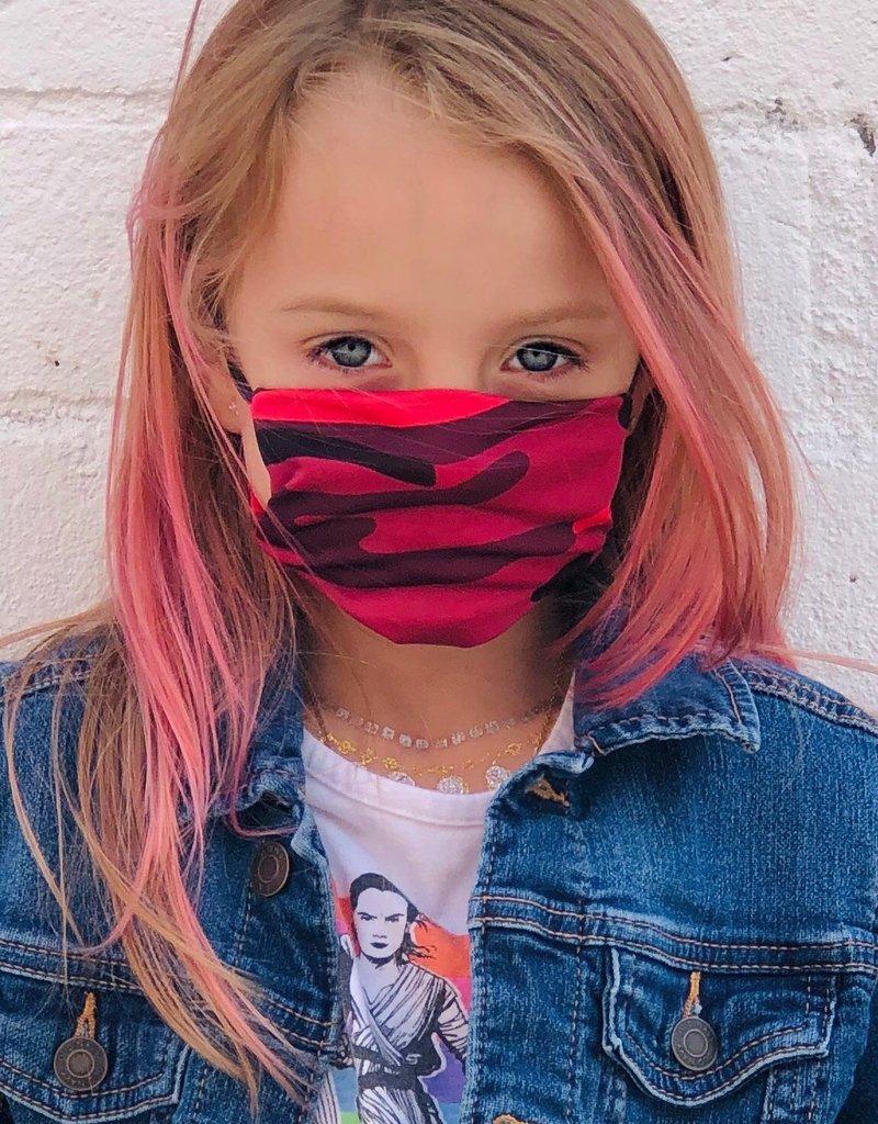 Kids Mask Pink Camo