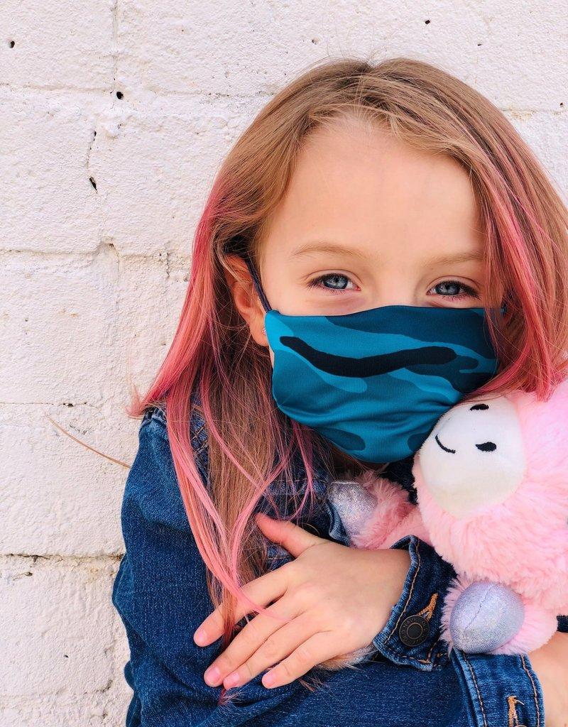 Kids Mask Turquoise Camo