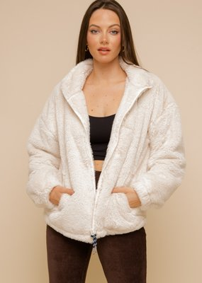 Hem & Thread Contrast Lined Faux Fur
