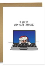 Humdrum Paper Streaming Santa