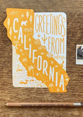 Noteworthy Paper and Press California State Postcard