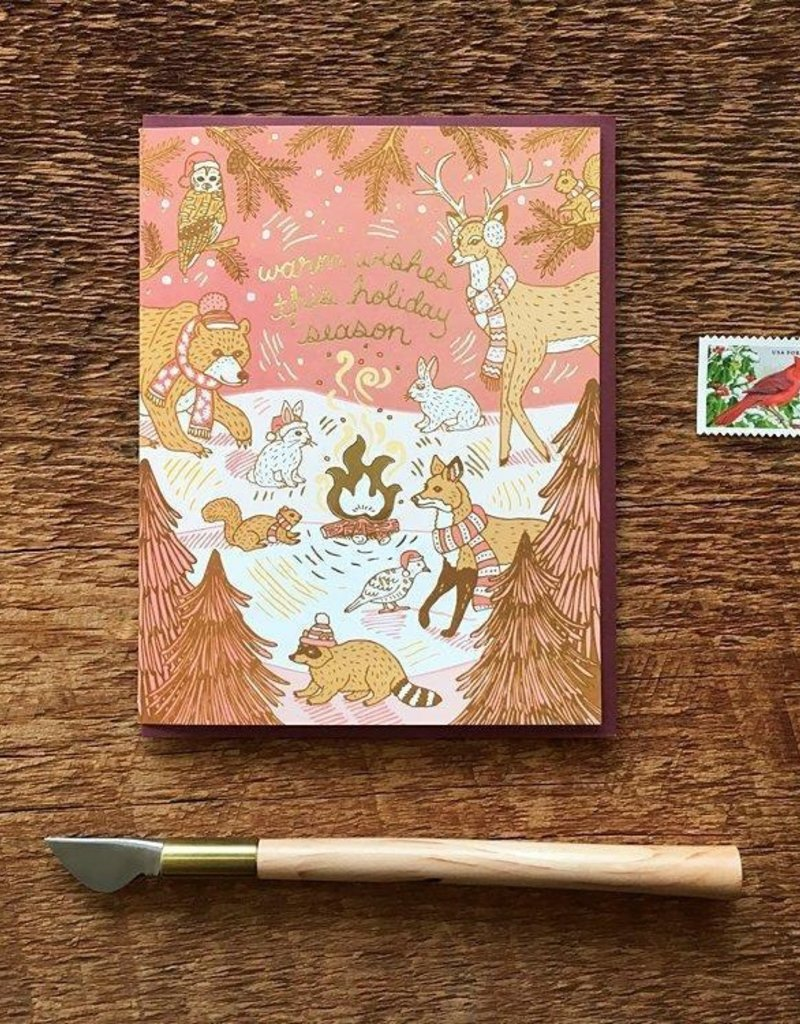 Noteworthy Paper and Press Woodland Holiday Card