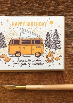 Noteworthy Paper and Press Birthday Camper Card
