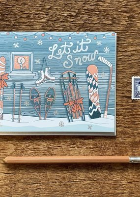 Noteworthy Paper and Press Let It Snow Card