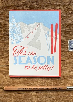Noteworthy Paper and Press Tis Skis Card