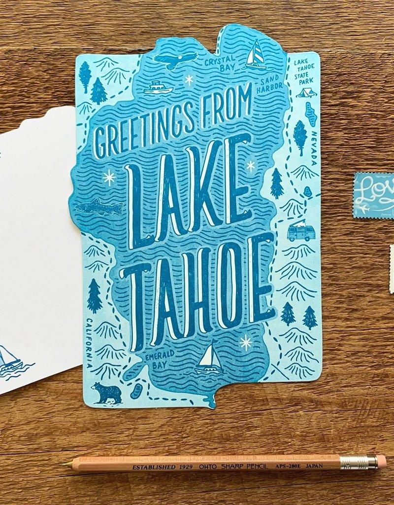 Noteworthy Paper and Press Lake Tahoe Postcard
