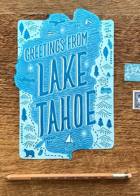 Noteworthy Paper and Press Lake Tahoe Postcard