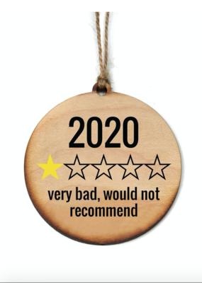 Driftless Studios 2020 Rating Ornament