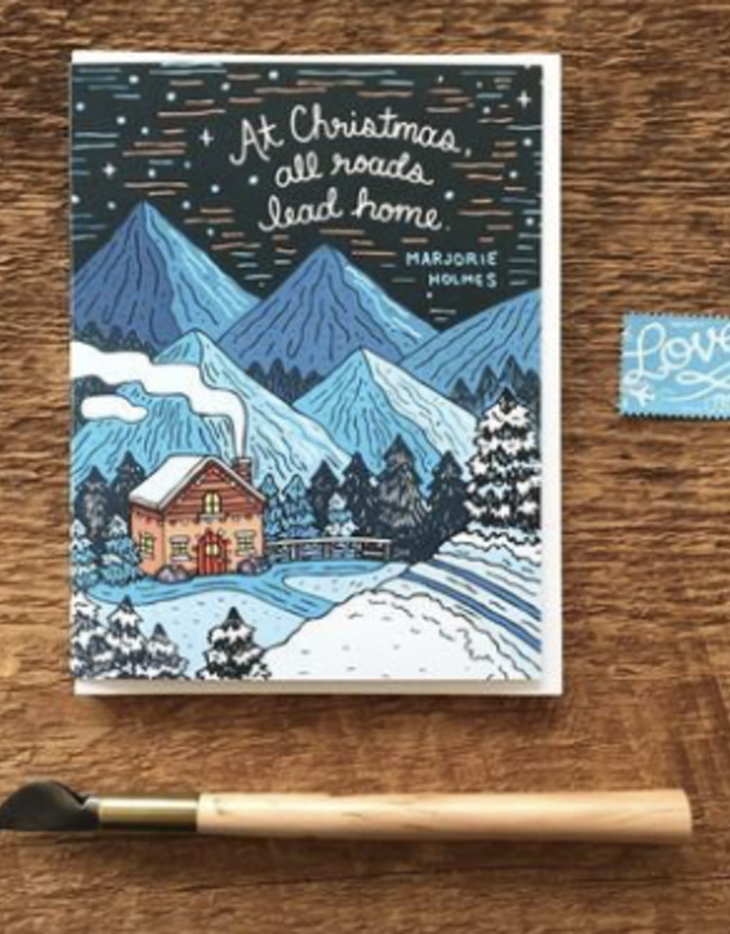 Noteworthy Paper and Press Christmas Home Card