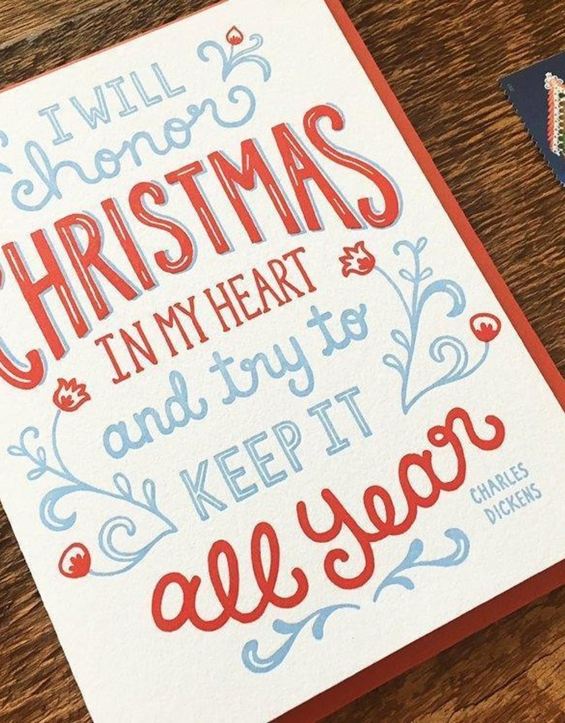 Noteworthy Paper and Press Dickens Quote Card