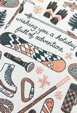 Noteworthy Paper and Press Holiday Sports Card