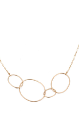 Colleen Mauer Organic 4-Loop Gold Necklace
