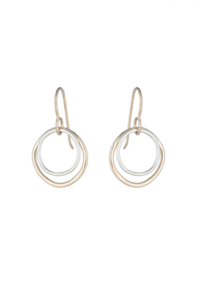 Colleen Mauer Small Double Rounded Square Earrings