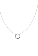 Colleen Mauer Mini Black & Gold Circle Necklace